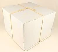 Коробка ГОФР / 460х460х475 мм / ГОФР-Белая / б.о. / для торт, фото 1