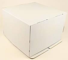 Коробка ГОФР / 360х360х400 мм / ГОФР-Белая / б.о. / для торт