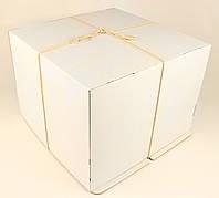 Коробка ГОФР / 460х460х250 мм / ГОФР-Белая / б.о. / для торт, фото 1