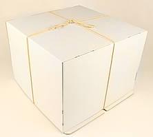 Коробка ГОФР / 460х460х250 мм / ГОФР-Белая / б.о. / для торт