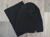 Спортивная шапка черная Vertex в комплекте с горловиком, фото 1