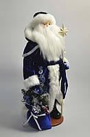 Дед Мороз в синем с белым узором (под елку) 53 см, фото 1