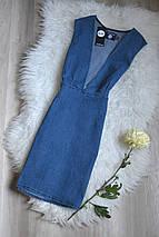Новое джинсовое платье с декольте Boohoo, фото 3