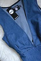 Новое джинсовое платье с декольте Boohoo, фото 2