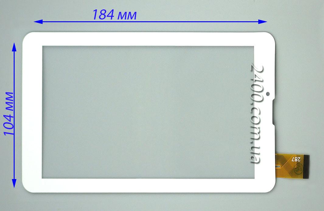 Сенсор, тачскрин для Bravis NB75 3G IPS белый 30pin 184*104 мм, тест 100%
