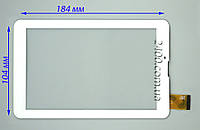 Сенсор, тачскрин для Bravis NB75 3G IPS белый 30pin 184*104 мм, тест 100%, фото 1