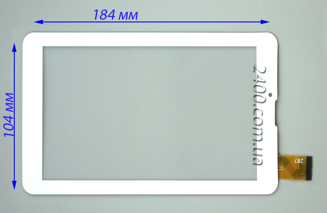 Сенсор, тачскрин Bravis NB753 белый 30pin 184*104 мм, тест 100%