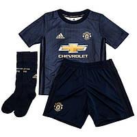 Детская футбольная форма Манчестер Юнайтед резервная (2018-2019), Adidas,  Клуб, 7d9bffe5a39