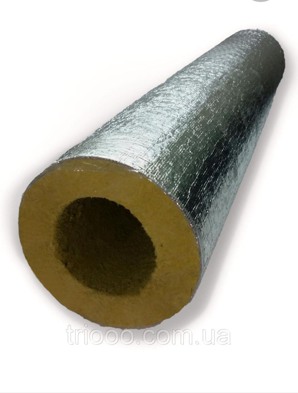 Скорлупа базальтовая Ø 219/50 для изоляции труб кашированная фольгой