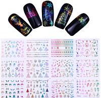 """3D наклейки для ногтей """"Новогодние"""""""