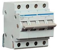 Переключатель ввода резерва 250В/63А, 1+N, 4м., Hager