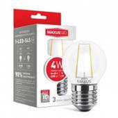 Светодиодная лампа Maxus LED Filament G45 E14, E27 4W