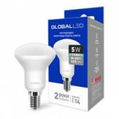 Светодиодная рефлекторная лампа LED GLOBAL R50 E14 5W
