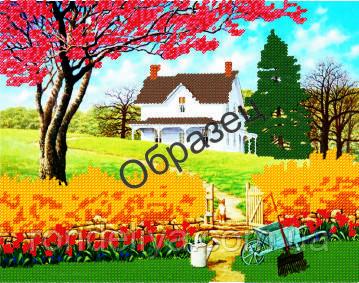 Схема для вышивки бисером «Дом мечты»
