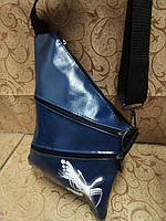Барсетка слинг на грудь, через плечо Puma синяя экокожа, фото 1