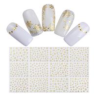 """3D наклейки для ногтей """"Снежинки золотые"""""""