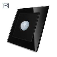 Датчик движения, Инфракрасный выключатель Livolo цвет черный, стекло (VL-W291RG-2-11)