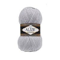 Пряжа для вязания Alize Lanagold 684 пепельный (Ализе Лана голд)