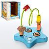 Деревянная игрушка Лабиринт для пальчиков на проволоке MD0979  2 вида звездочка и месяц с глазками