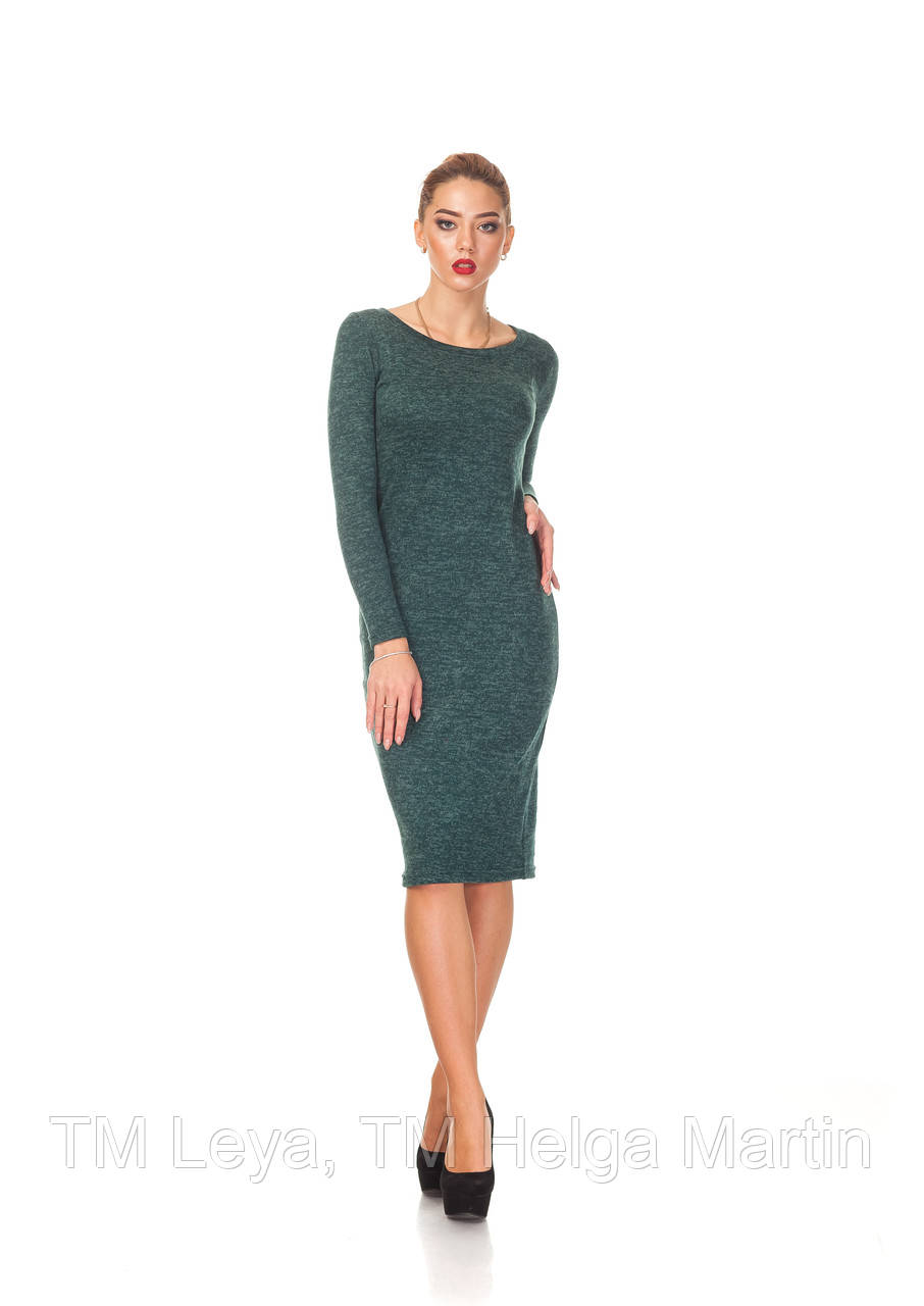 Женское платье футляр из ангоры. П092