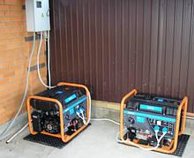 Подключение генераторов Q-Power под навесом во дворе