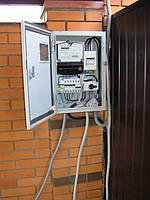 подключение к вводному электрощиту, используя перекидной выключатель LAS 25