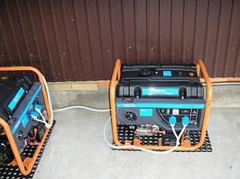 Подключение генераторов Q-Power под навесом во дворе 4
