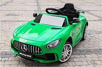 Детский электромобиль Mercedes_AMG GT R, ЛИЦЕНЗИЯ, Кожа, EVA-резина, Амортизаторы, дитячий електромобіль