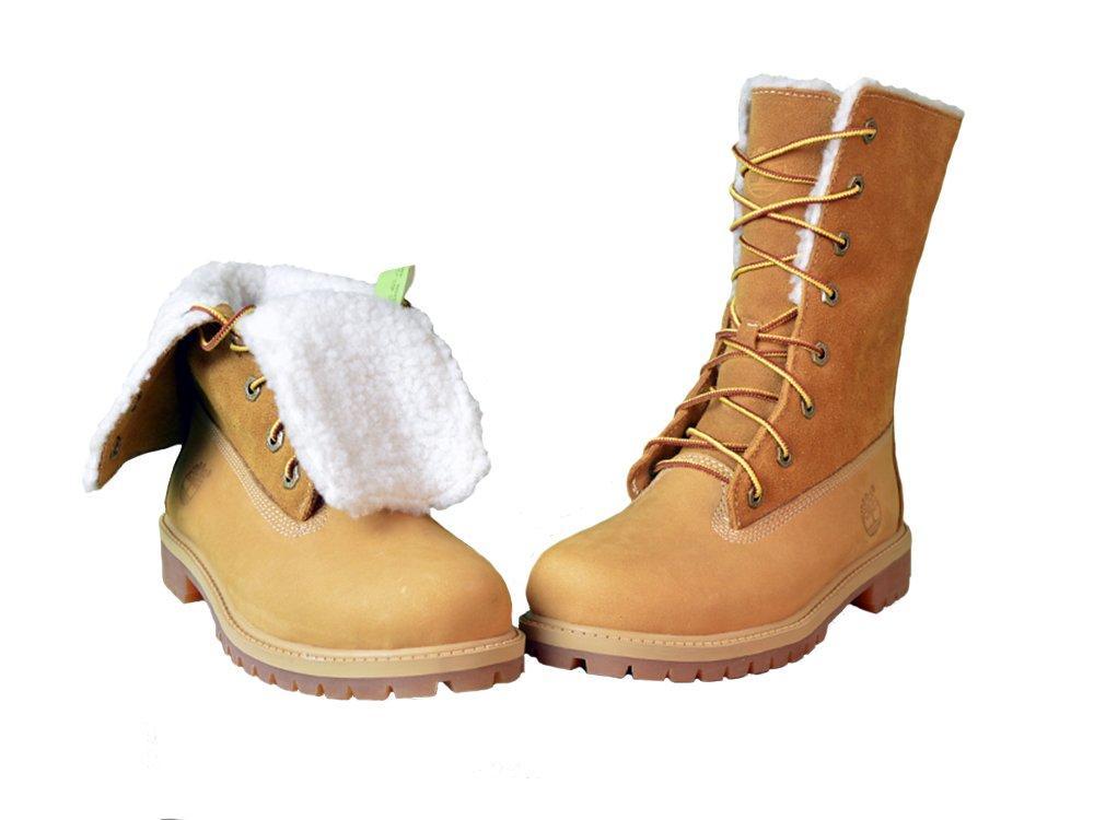 Женские ботинки Тимберленд original Teddy Fleece China Yellow (С МЕХОМ) рыжие