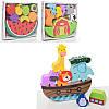 Дерев'яна іграшка Балансир MD1276, фрукти, тварини, в коробці