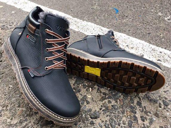 Мужские зимние ботинки ECCO натуральная кожа, фото 2