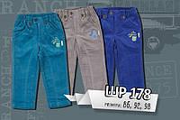 Вельветовые штаны р.86