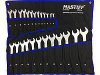 Професиональний набор ключей рожково-накидных Mastiff Польша 25 предметов