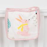 Детский карман - органайзер 17х19 тканевый на деткую кроватку подвесной для хранения игрушек и книг, фото 2