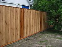 Забор из металлосайдинга под блок-хаус