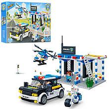 Конструктор BANBAO полицейский участок,машинка,вертолет,фигурки 4шт, 522 дет.