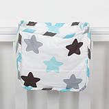 Детский карман - органайзер 17*19 тканевый на деткую кроватку подвесной для хранения игрушек и книг, фото 4