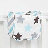 Детский карман - органайзер 17*19 тканевый на деткую кроватку подвесной для хранения игрушек и книг, фото 5