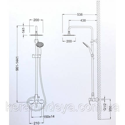 Душевая система Kraus Tuphon KEF-15108CH, фото 2