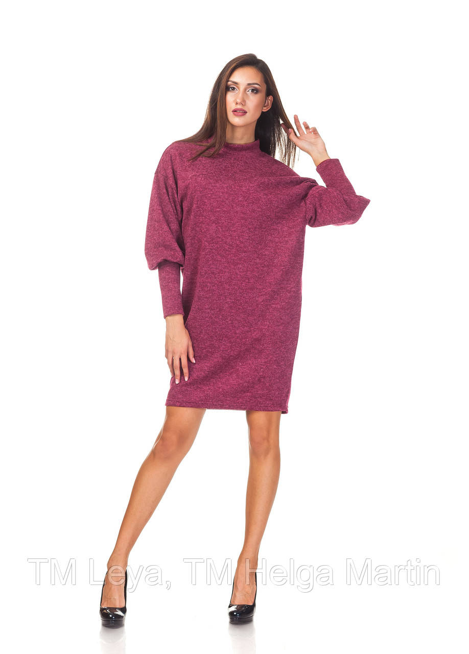 Теплое женское платье over size. П093