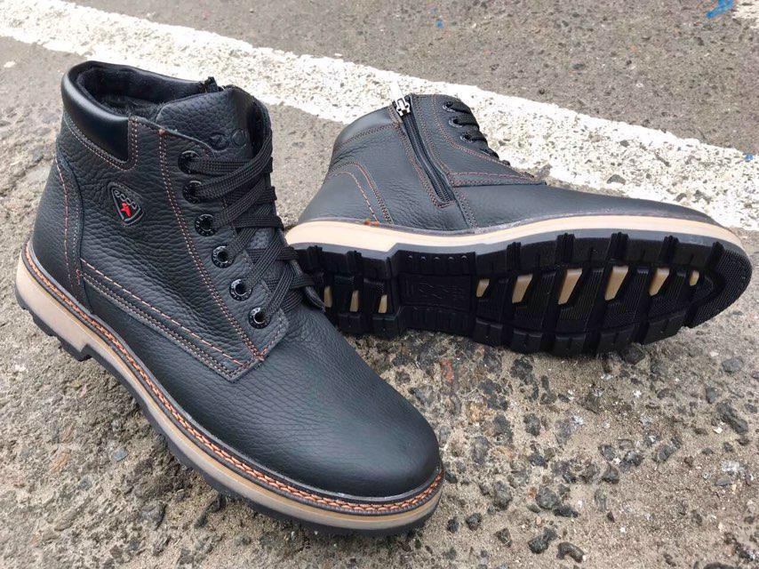 Мужские зимние ботинки ECCO натуральная кожа