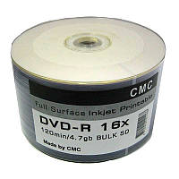 Диск CMC  4,7Gb - 16x  (bulk 50)   DVD-R Full Printable(Ritek)