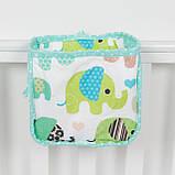 Детский карман - органайзер 17*19 тканевый на деткую кроватку подвесной для хранения игрушек и книг, фото 2