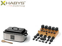 Набор бальзатовых камней 45 штук с нагревателем 17 л. HABYS