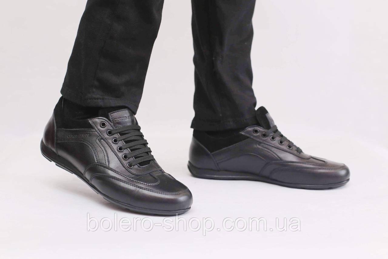 Кроссовки черные   Armani