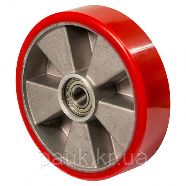 Колесо 56-159х50-B(серія 56) Ø 160мм, колесо для гідравлічних візків та рокл з кульковим підшипником