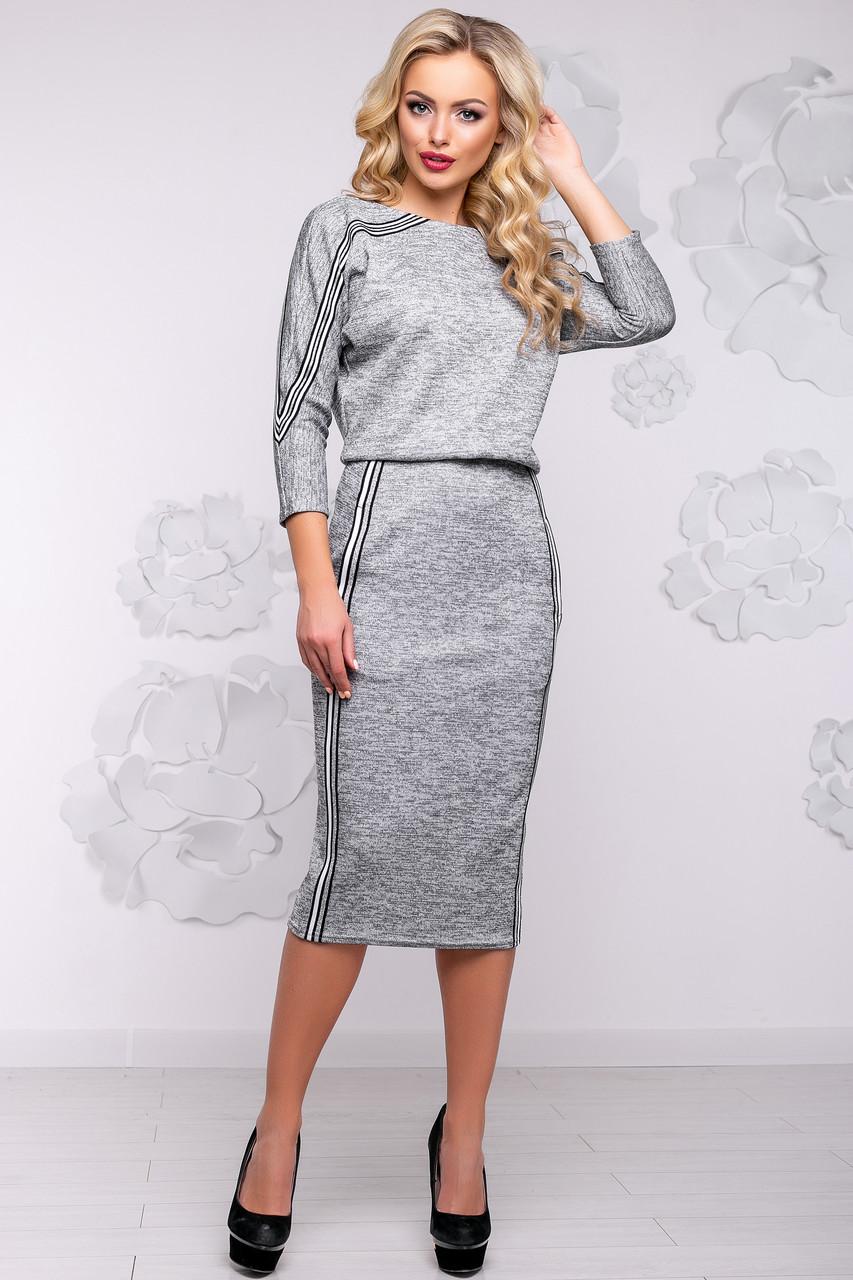 c8a7ae8e5e8 Красивое Длинное Платье Футляр из Ангоры Серое М-2XL - Ukraine In Trend -  100