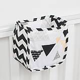 Дитяча кишеня - органайзер 17*19 тканинний на дитяче ліжечко підвісний для зберігання іграшок та книг, фото 3