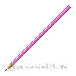 Карандаш чернографитный Faber-Castell Grip Sparkle Pink розовый корпус, 118229
