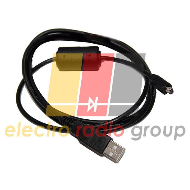 Шнур шт.USB А -шт.mini USB 8pin(плоский), с фильт., диам.-3,5мм, 1.5м.